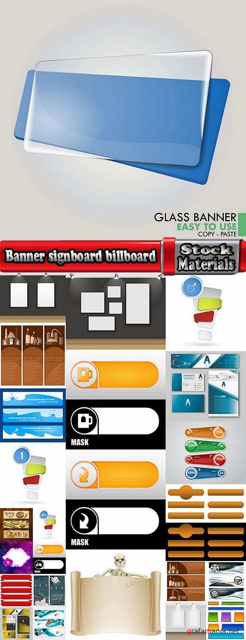 Banner signboard billboard advertising flyer 25 EPS