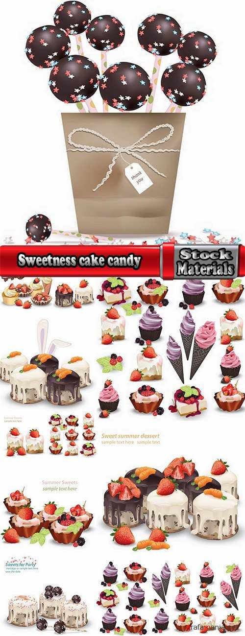 Sweetness cake candy cream cake 12 EPS