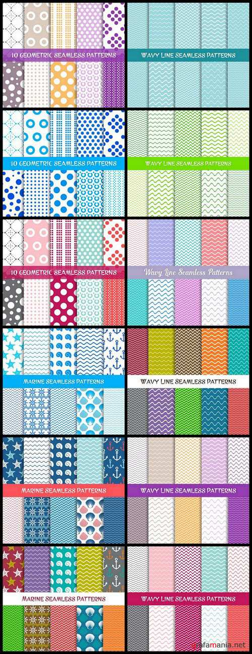 Seamless Pattern Collection #137 - 12 Vector