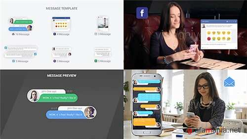 SMS Messages Chat Notify Elements - After Effects Project (Videohive)