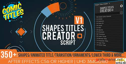 Shapes Titles Creator - After Effects Scripts & ae (Videohive)