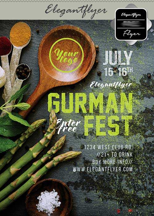 Gurman fest V15 Flyer PSD Template + Facebook Cover