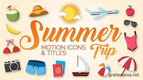Summer Trip - Motion Icons & Titles - Project for After Effects (Videohive)