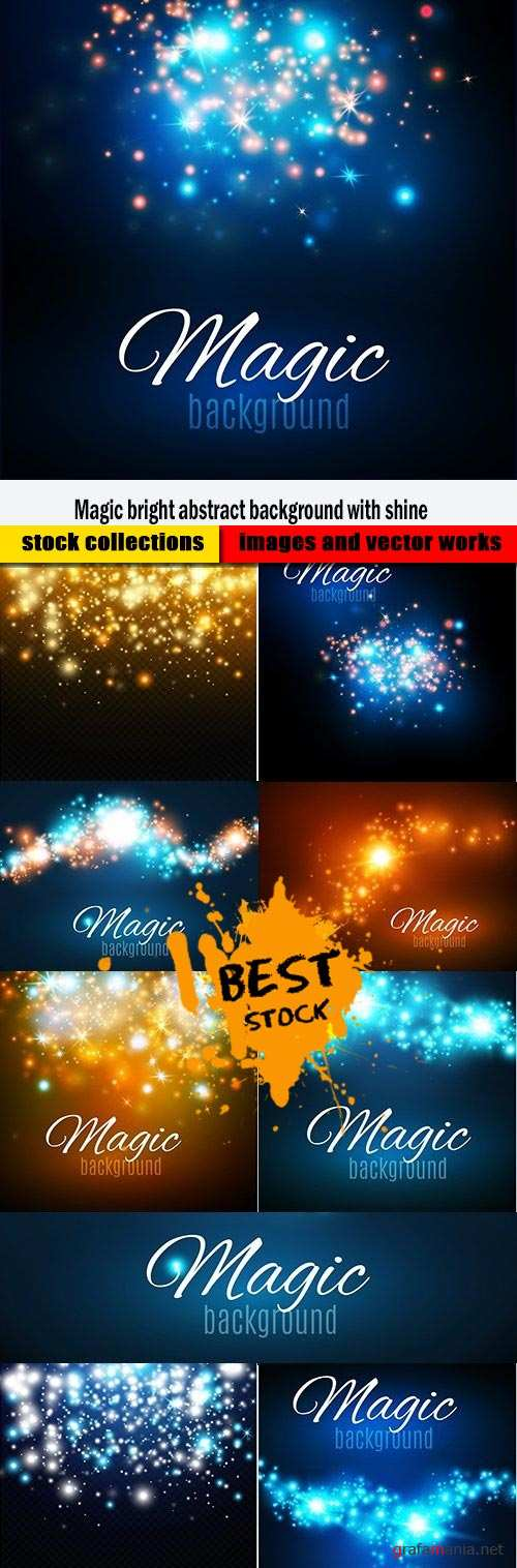 Magic bright abstract background with shine