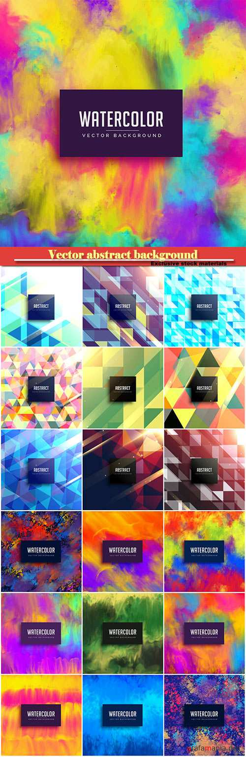 Vector colorful watercolor stain abstract background
