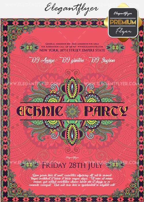 Ethnic Party V2 Flyer PSD Template + Facebook Cover