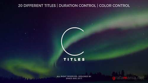 Clean Titles 20265516 - Project for After Effects (Videohive)