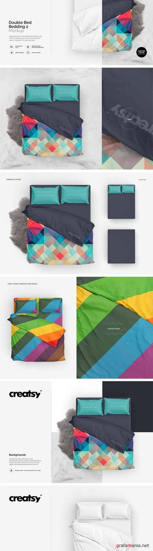 Double Bed 2 Bedding Mockup 1604957