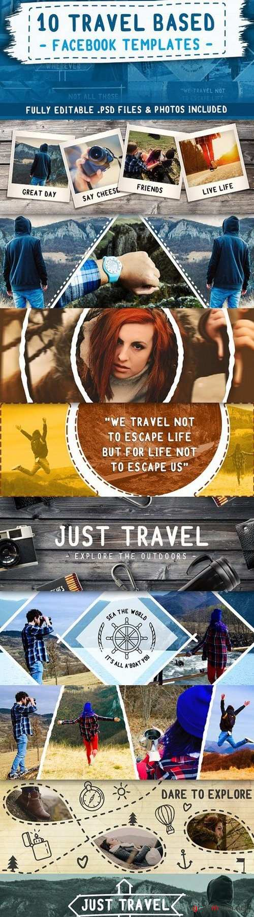 Travel Based PSD Facebook Templates 1546000