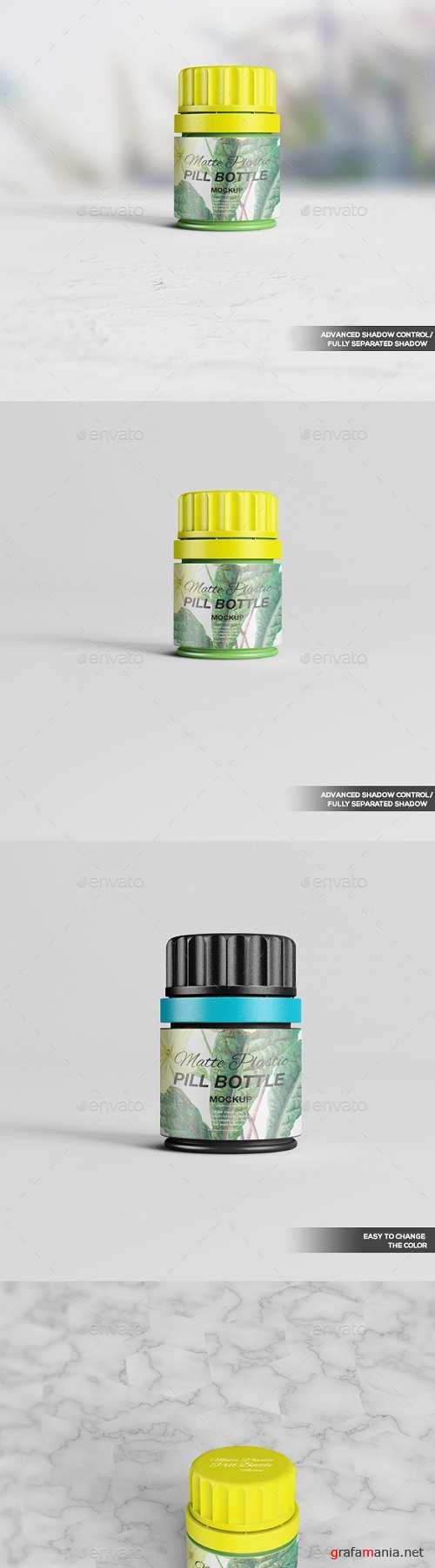 Matte Plastic Pill Bottle Mockup 02 20212424