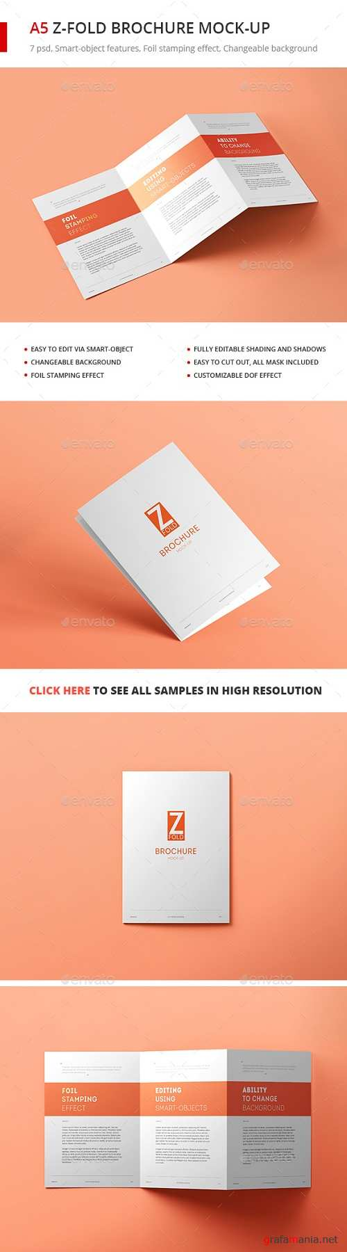 Tri-Fold Brochure A5 Mock-up vol. 2 20164517