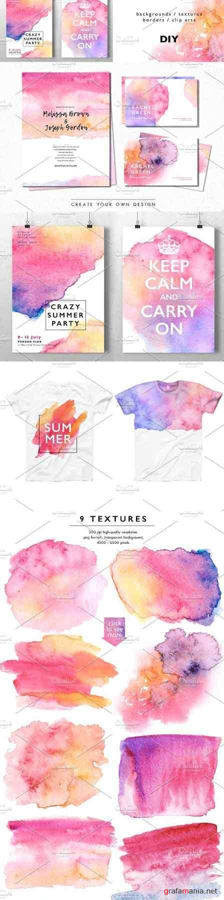 Watercolor Abstract Background Pack 1614652