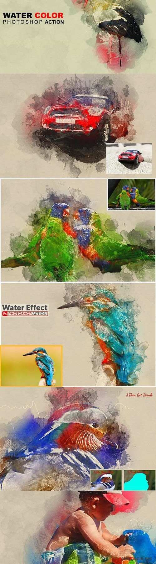 Water Color Photoshop Action 1573158
