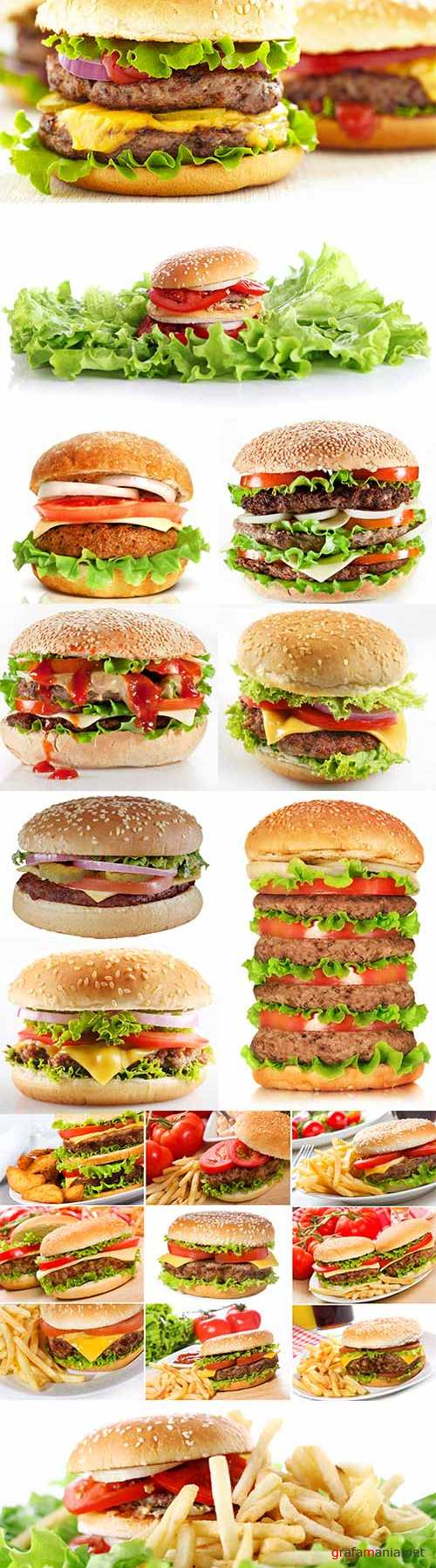 Fast food delicious burgers