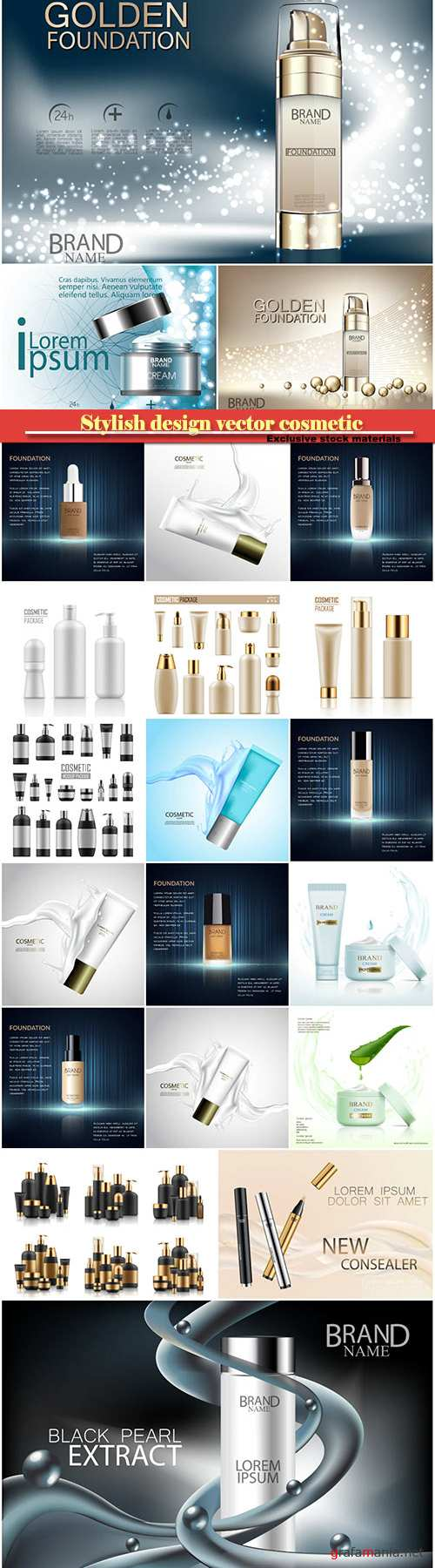 Stylish design vector cosmetic, face care, tonal cream