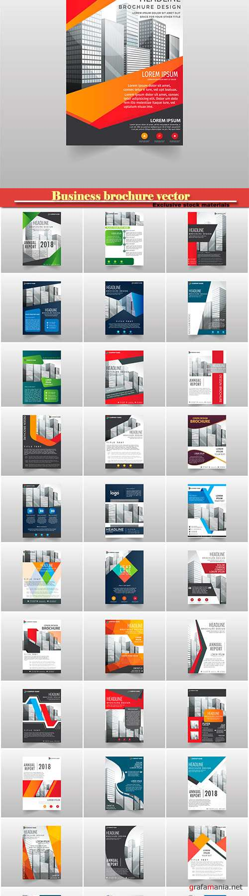 Business brochure vector, flyers templates # 21