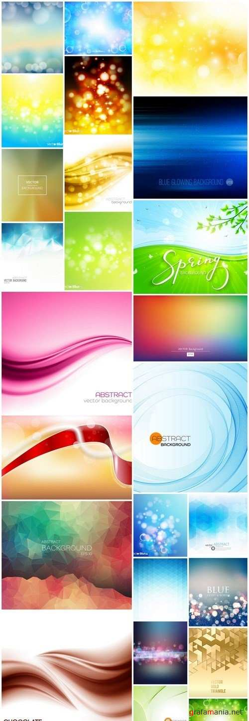 Abstract Background Collection #204 - 25 Vector
