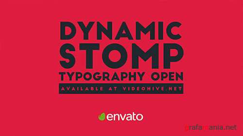 Dynamic Stomp Typography Open - Project for After Effects (Videohive)