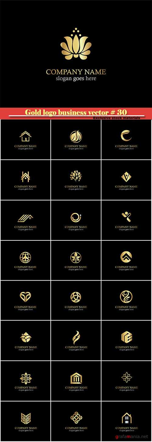Gold logo business vector illustration # 30