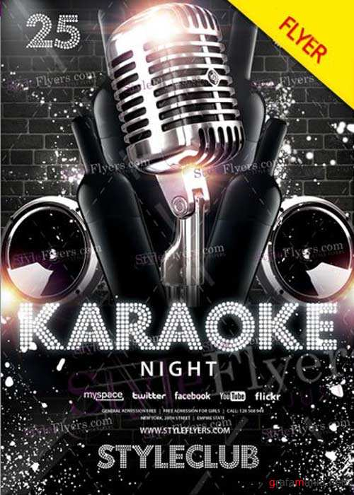 Karaoke Night V38 Flyer PSD Template