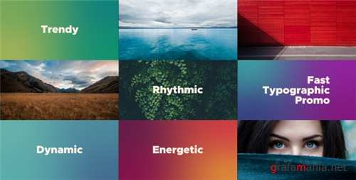 Fast Typographic Promo - After Effects Project (Videohive)