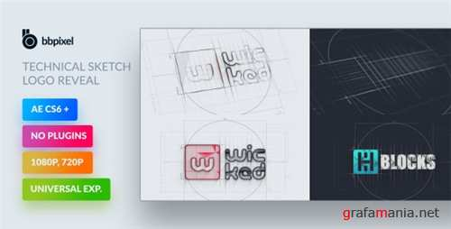 Technical Sketch Logo Reveal - After Effects Project (Videohive)