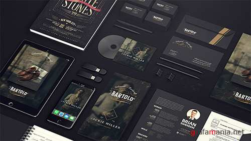 Black Mock-up Video Presentation - Project for After Effects (Videohive)