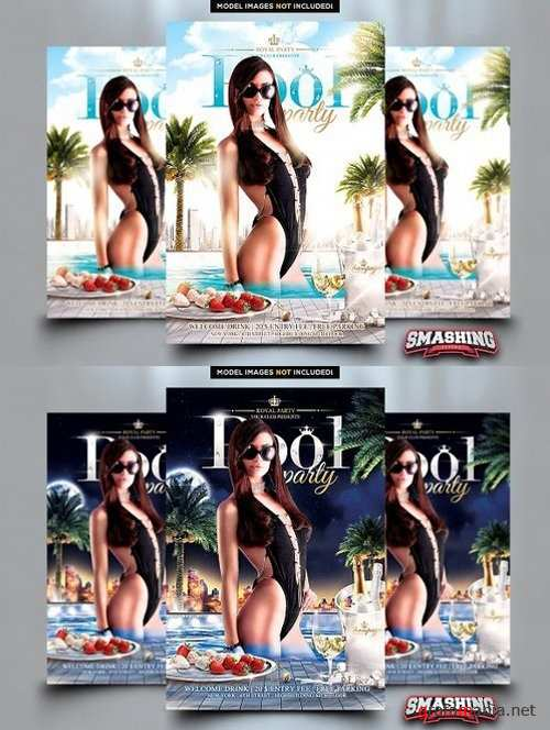 Royal Pool Party Flyer Template 1674720