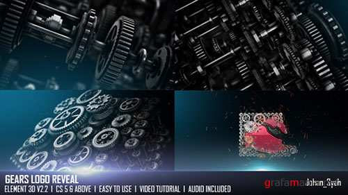 Gears Logo Reveal - Project for After Effects (Videohive)