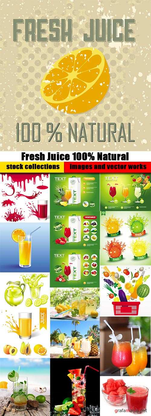 Shutterstock - Fresh Juice 100% Natural, 25xEps