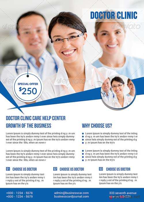 Doctors flyer V9 PSD Template