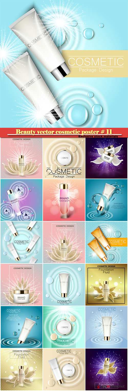 Beauty vector cosmetic product poster # 11