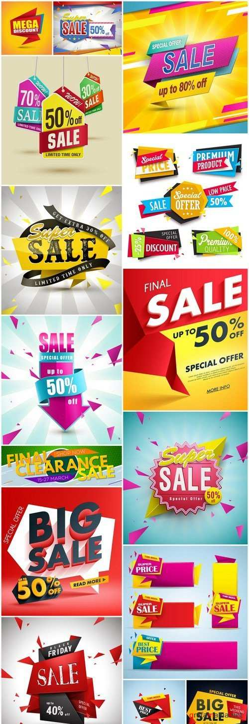 Promotional Sale Sanner Set #5 - 15 Vector
