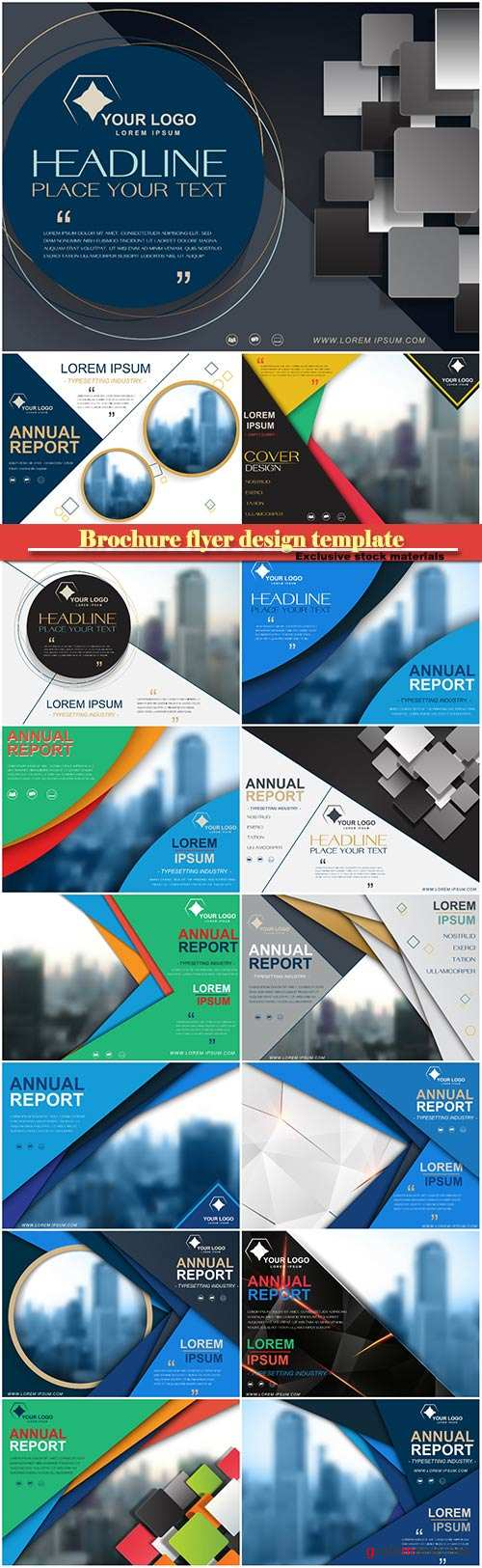 Brochure flyer design template vector, cover presentation