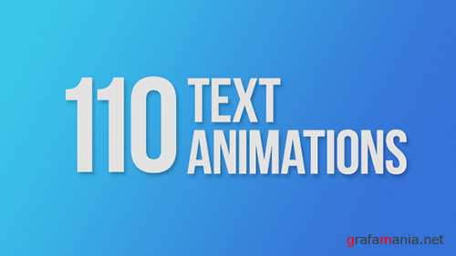 110 Text Animations - Project for After Effects (Videohive)