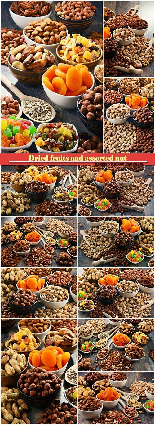 Composition with dried fruits and assorted nuts #2