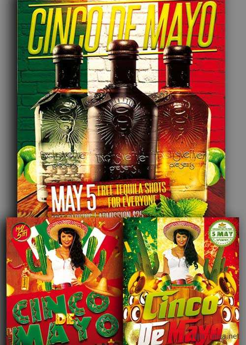 Cinco De Mayo 3in1 V1 Flyer Template