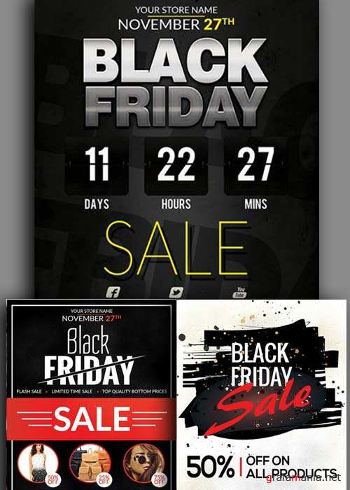 Black Friday 3in1 V1 Flyer Template