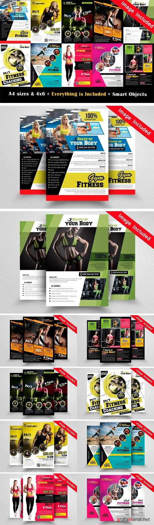 10 Fitness Flyer Bundle Vol.01 1724953