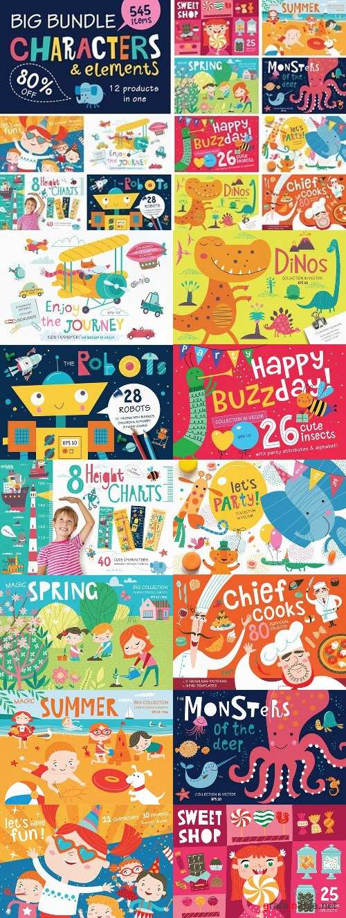 BIG BUNDLE characters & elements 1663294
