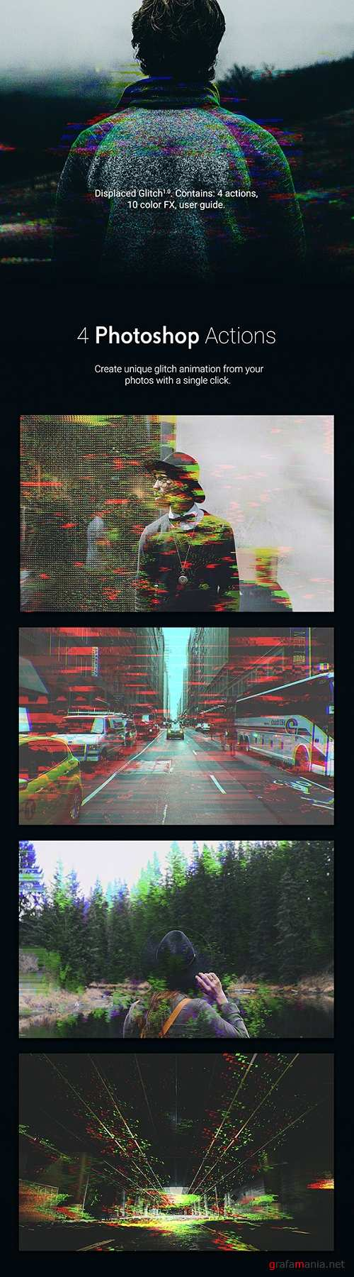 Displaced Glitch - Animated Photoshop Action 20348032