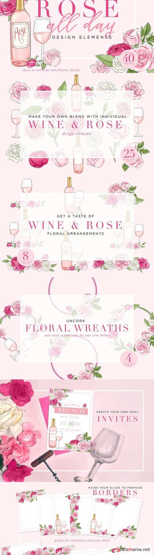 Rose All Day Design Elements - 1470788