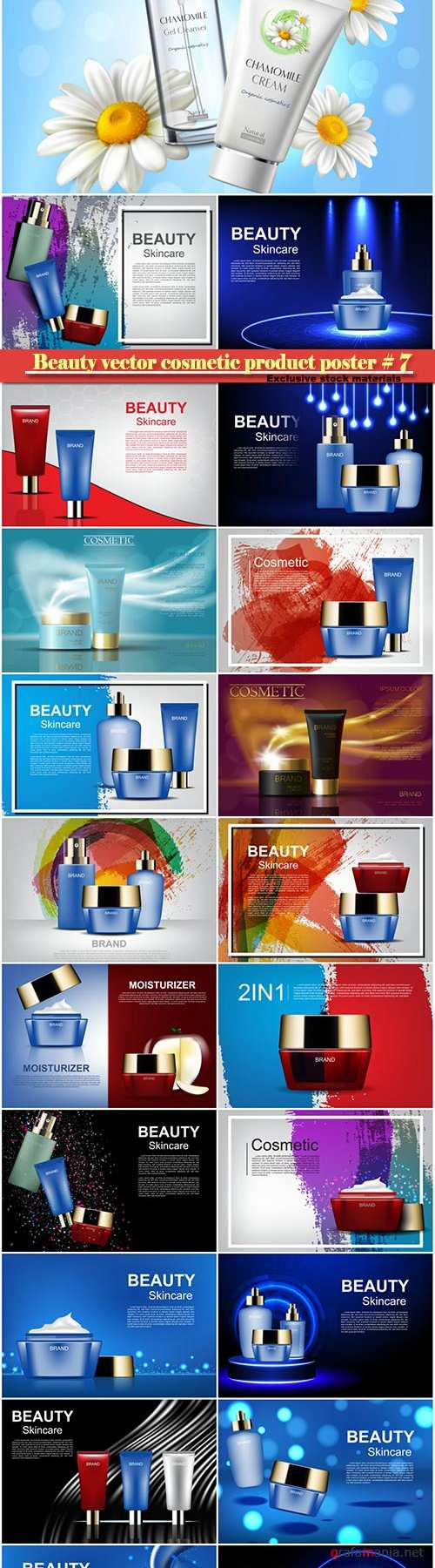 Beauty vector cosmetic product poster # 7