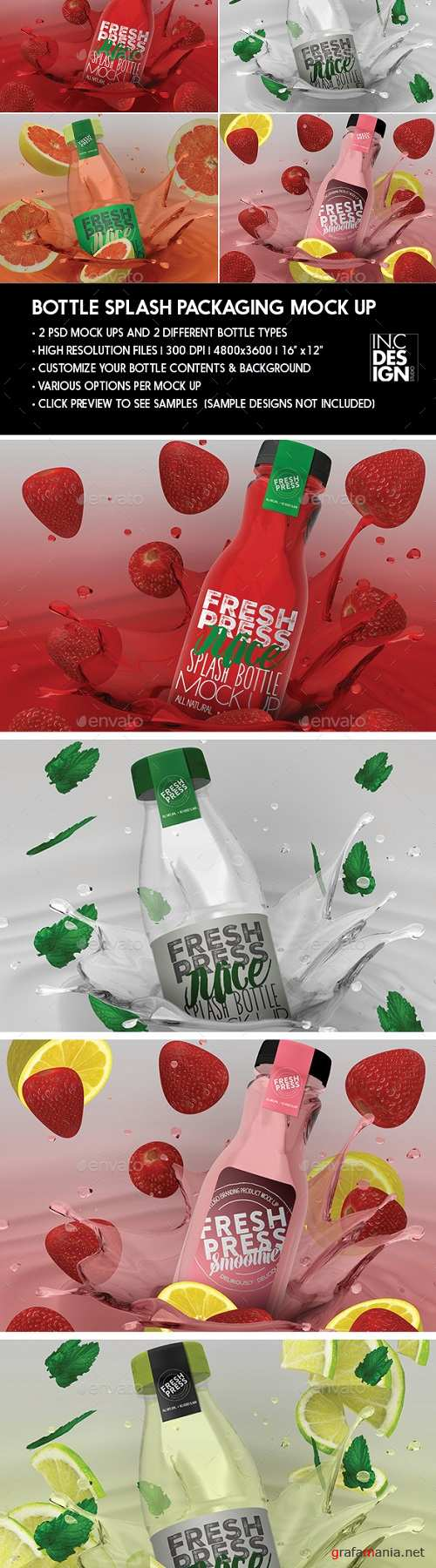 Bottle Juice Splash Packaging Mock Up 20456875