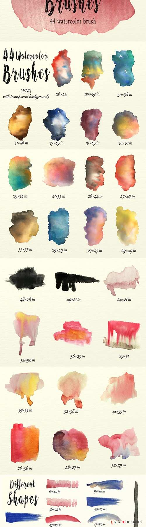 Watercolor Brushes Pack 1726398