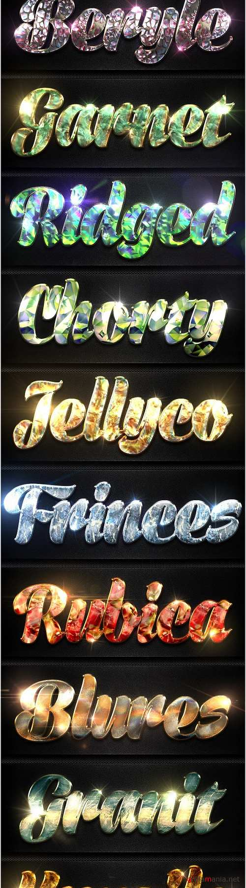 12 Crystal Collection Text Effect Styles Vol.2 - 8942954