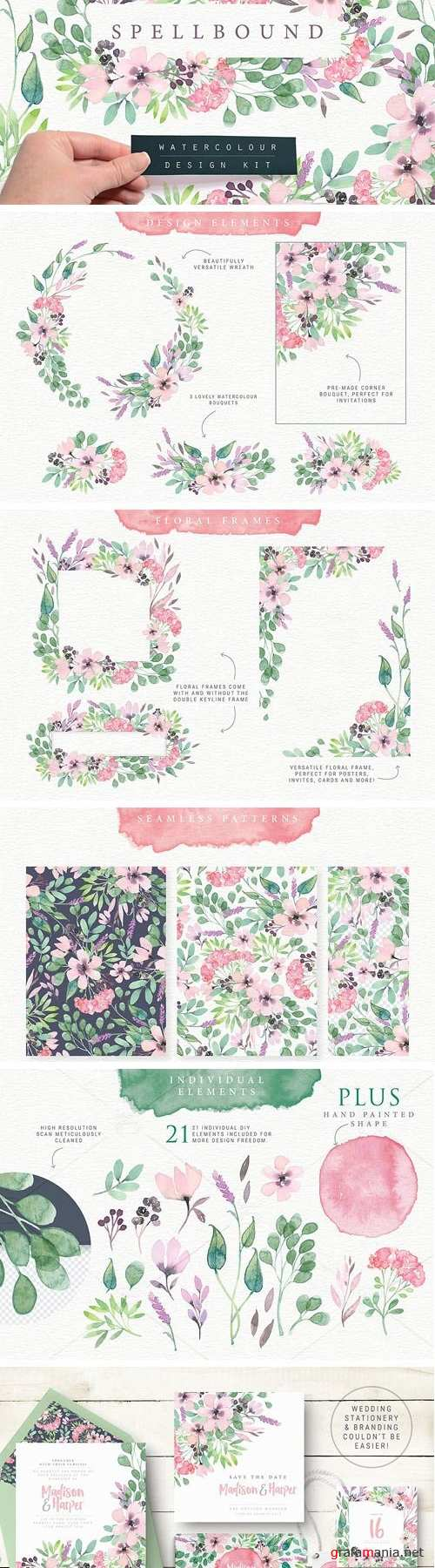 Spellbound Watercolour Design Kit 1723043