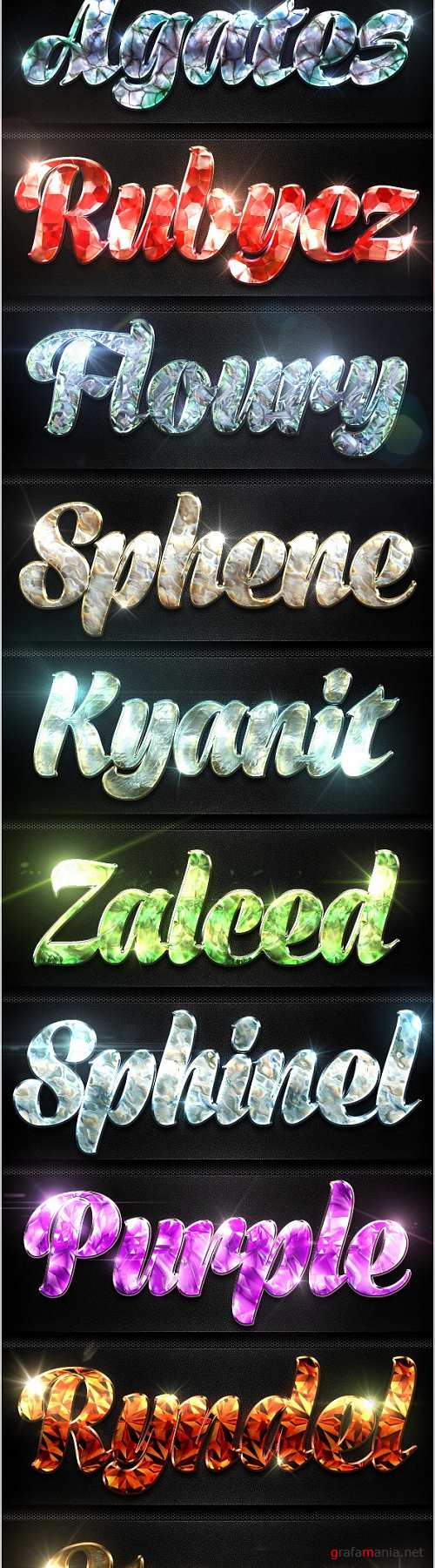 12 Crystal Collection Text Effect Styles Vol.3 - 8950569