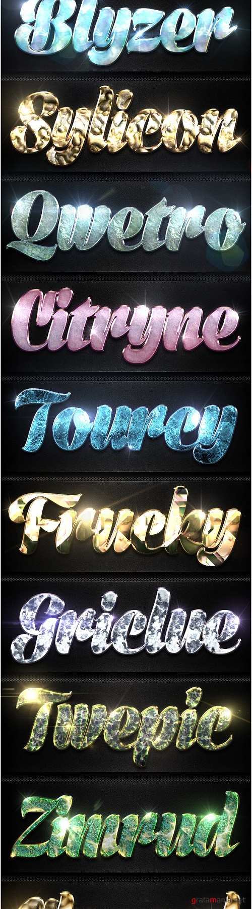 12 Crystal Collection Text Effect Styles Vol.4 - 8977586