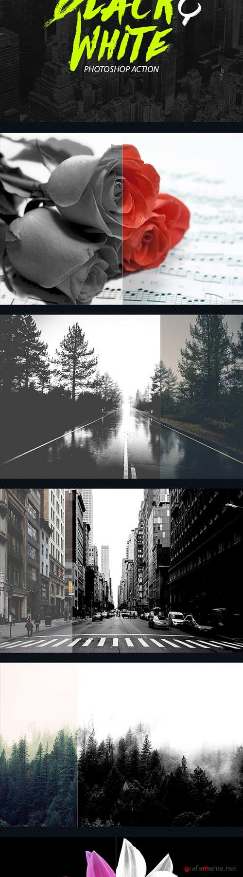 15 Black And White Photoshop Actions 20431872